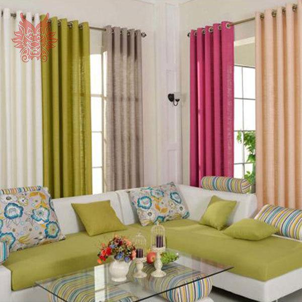 moderne style unie fini fen tre d pistage coton lin. Black Bedroom Furniture Sets. Home Design Ideas