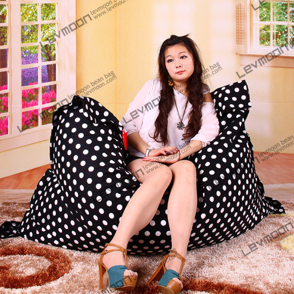 Фотография FREE SHIPPING 140*180CM dot beanbag 100% cotton bean bag chair cover living room sofa without filling