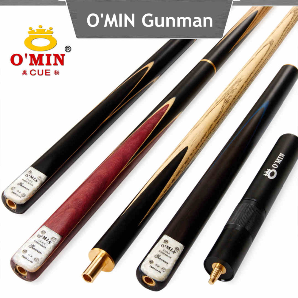 OMIN Genuine Gunman snooker cue,ash wood,3/4 jointed cue,billiard pool cue,snooker stick, Billiard Cues,free shipping by DHL(China (Mainland))