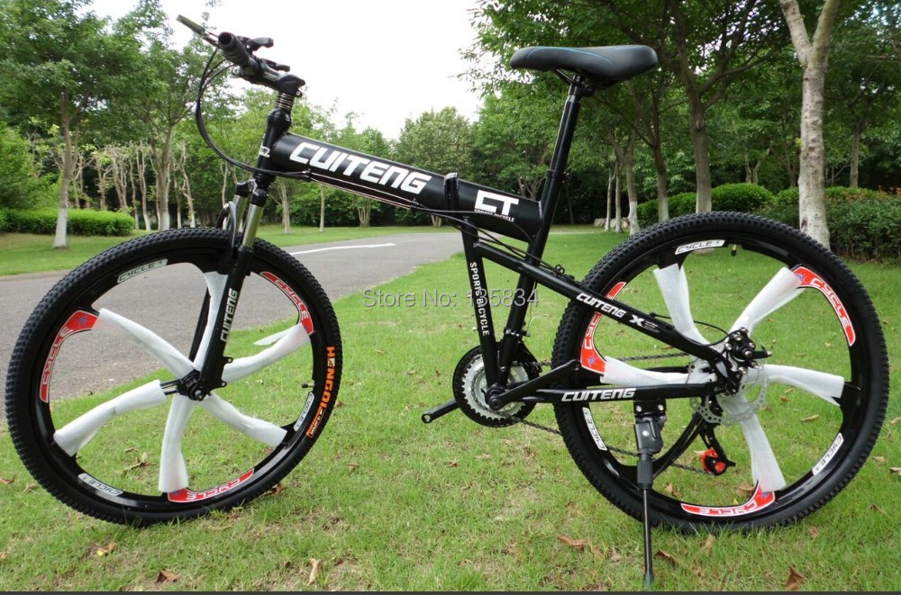 "New 21 Speeds Hummer Mountain Bike Bicicleta 26"" Mountain Bike Folding Bicycle Bycycle Bicycle Bicicletas Disc Brake System(China (Mainland))"