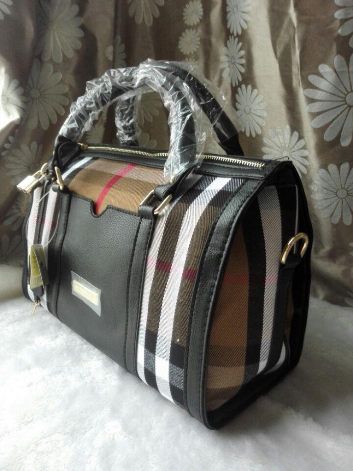 2016 hot women bags British pattern handbag PU leather+ canvas womens fashion bag lattice pillow bag Fashion brand design 366#(China (Mainland))