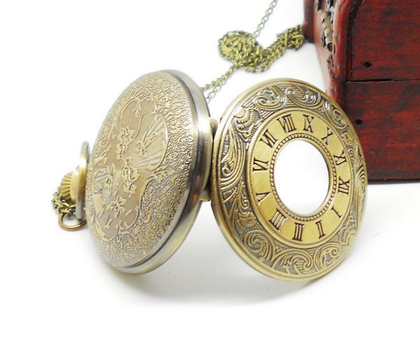 bronze vintage watches big vintage pocket watch roman quartz pocket watch relogio de bolsos steampunk watches