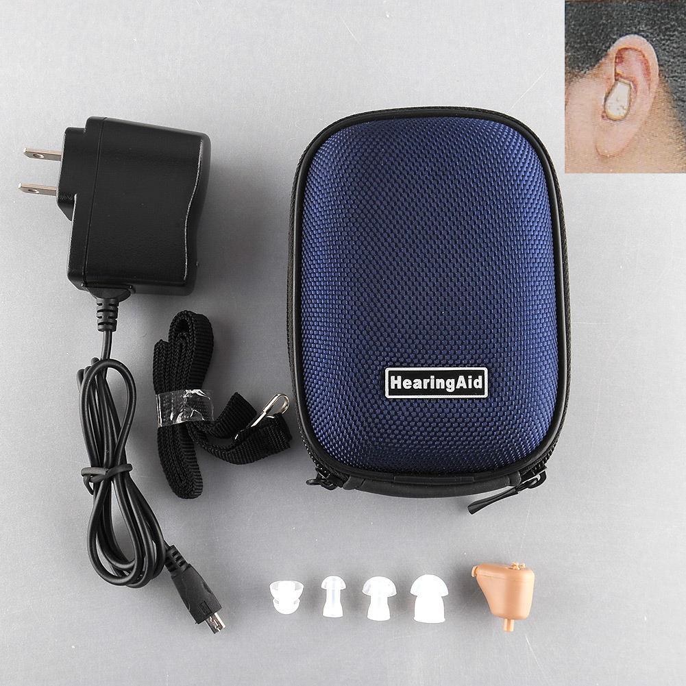 New Rechargeable Digital Mini Ear Hearing Aid Adjustable Sound Amplifier Audiphone Acouophone Acousticon Audifonos Para Sordos