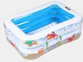 Child Swimming Pool Summer Inflatable Baby Bathtub Infant Square Cartoon Protable Folding Outdoor Basin for 2-6 Years Old Kids(China (Mainland))