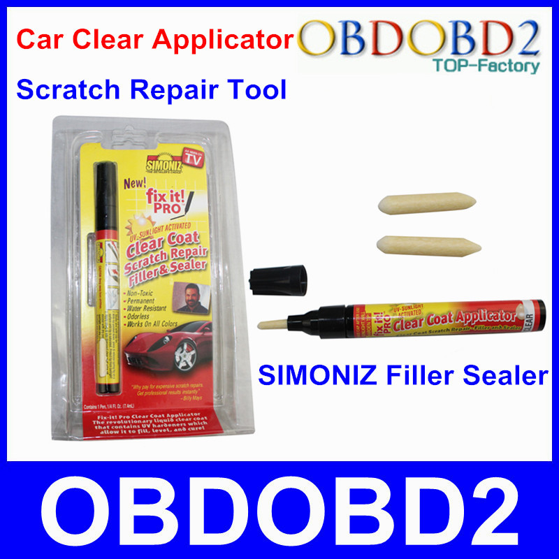 Easy To Use Car Scratch Repair Tool Car Painting Pen In Any Color Fix It Pro Filler Sealer Works On Any Car With Retail Package(China (Mainland))