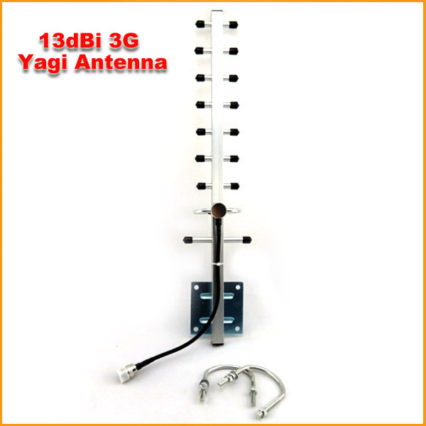 5PCS/LOT 1710-2170MHz 9 Units 13dBi 3G Yagi Antenna For W-CDMA 3G Mobile Phone Booster Repeater Free Shipping(China (Mainland))