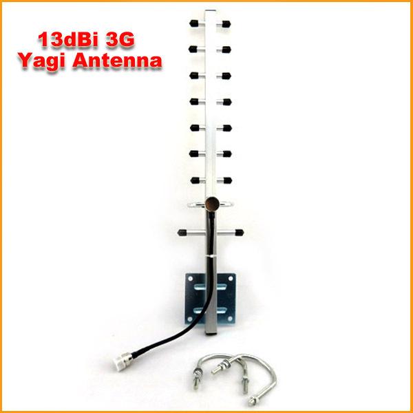 5PCS/LOT 1710-2170MHz 9 Units 13dBi 3G Yagi Antenna For W-CDMA 3G Mobile Phone Booster Repeater Free Shipping(China (Mainland))