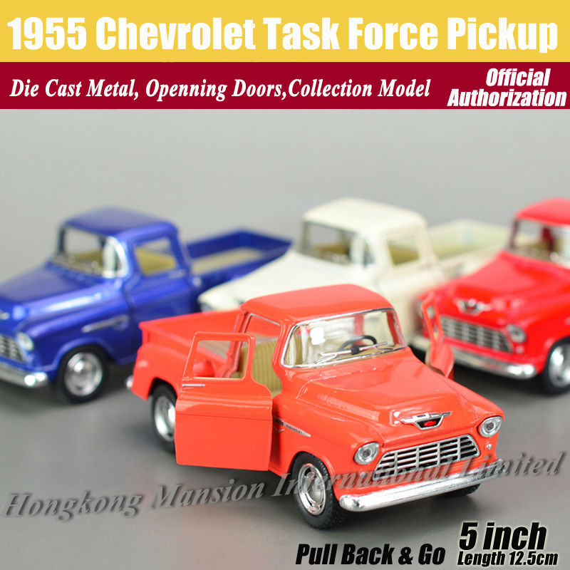 1:36 Scale Diecast Alloy Metal Classic Car Model For 1955 Chevrolet Task Force Pickup Collection Model Pull Back Toys Car(China (Mainland))
