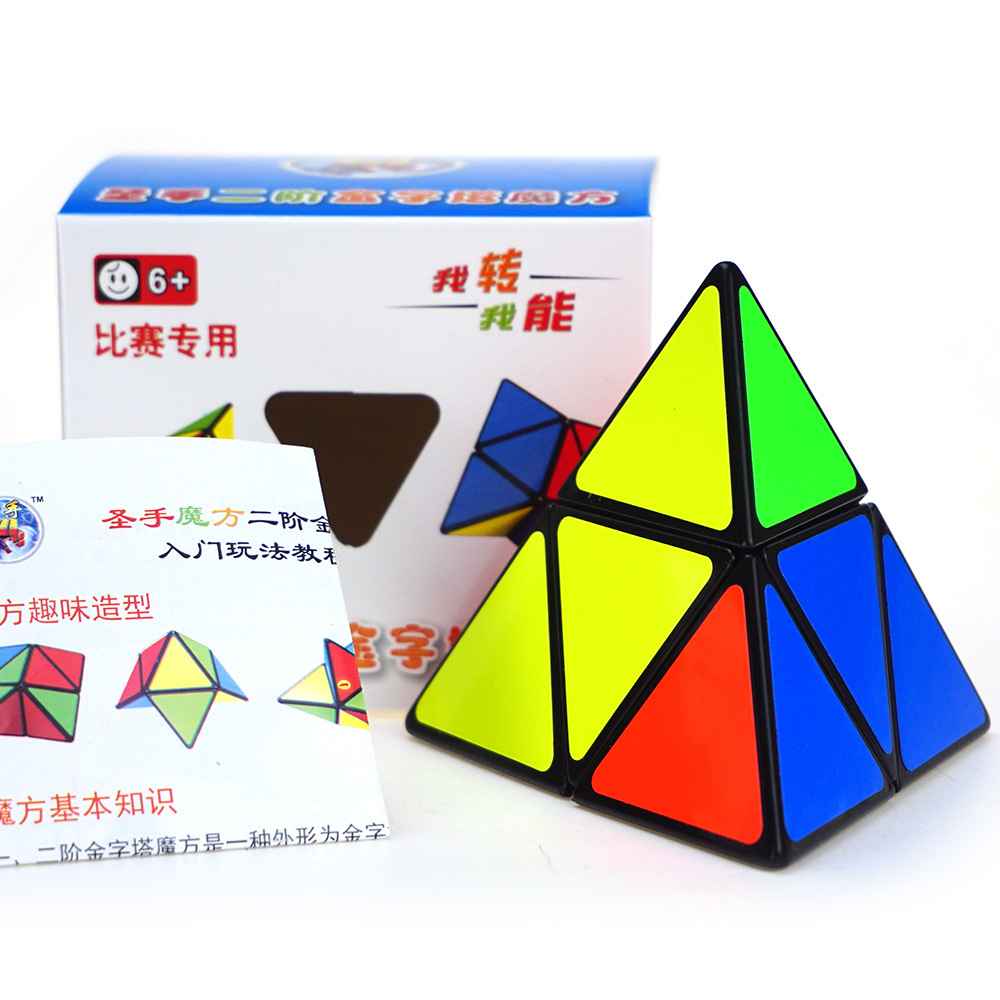 Best Four Axes 2 Layers Tetrahedron Magic Cube Pyraminx Racing Profiled Cube(China (Mainland))