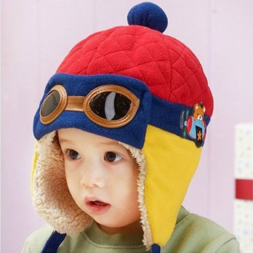 (1 piece ) Child Kids Baby Toddler Winter Pilot Cap Aviator Earflap Ear Protect Hat 6M-4Y(China (Mainland))