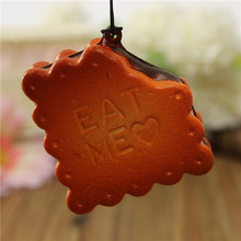Simulation Sandwich biscuits Eat Me Squishy Kawaii Cell phone Charms Straps Lowest Price(China (Mainland))