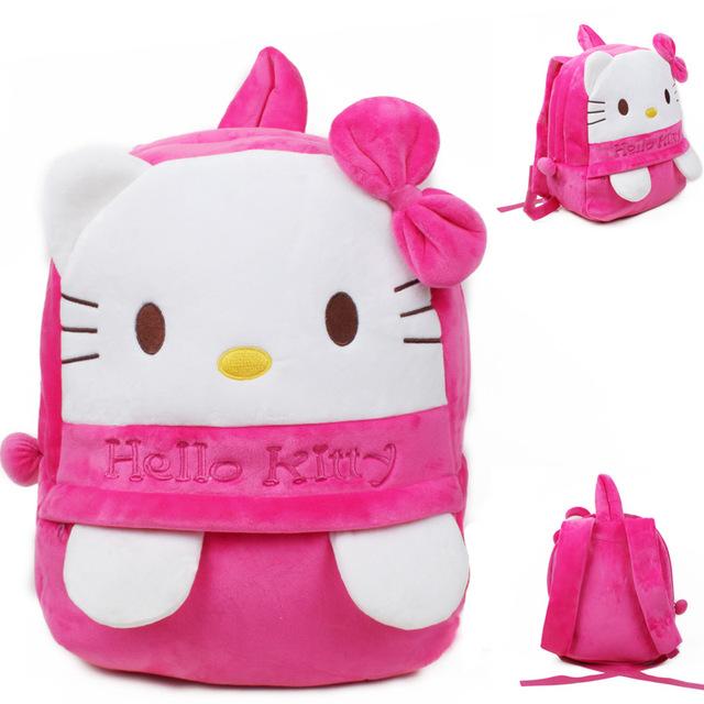 Новое поступление привет котенок плюшевые мультфильм рюкзак дети характер мешок подарок для девочек в возрасте 5 - 7 Mochila Infantil горячая распродажа