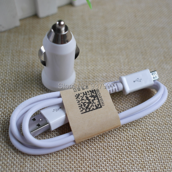 Mini Car Charger Adapter+Micro USB Data Sync Charger Cable for Samsung Galaxy S3 Note2 S4 S6 Edge HTC LG and More Android phone(China (Mainland))