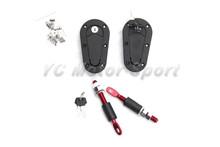 Free shipping Universal Hood Bonnet Aero Catch wtih Locking Reinforced Nylon Aero Catch Bonnet Lock Hood Pin Hood Lock with Keys(China (Mainland))