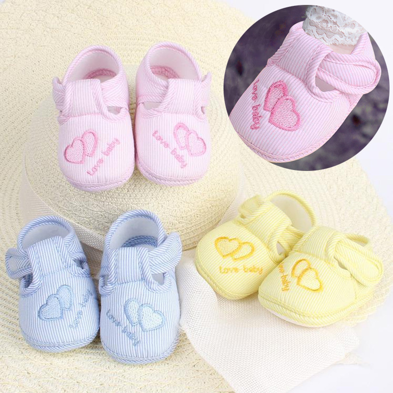 Hot New Lovely Baby Girls Boy Toddler Shoes Cotton Infant First Walkers Soft Skid-proof Newborn Babies Shoes sneakers Cheap Z1