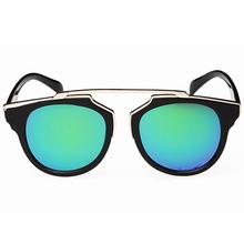 New Fashion Plastic Wrap Metal Cat Eye Glasses Vintage Sunglasses Women Men Brand Designer Coating Sunglass gafas lentes de sol(China (Mainland))