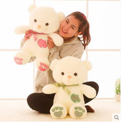 1pcs 45cm Stuffed Plush Toy Love Heart Big Plush Teddy Bear Soft Gift for Valentine Day Birthday Girls(China (Mainland))
