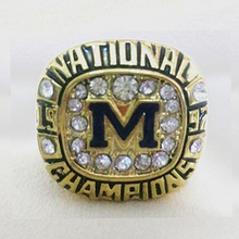 Drop Shipping  1997 Football National michigan  Championship Ring custom Big Size 11,18k gold men replica ring Sport Jewelry(China (Mainland))