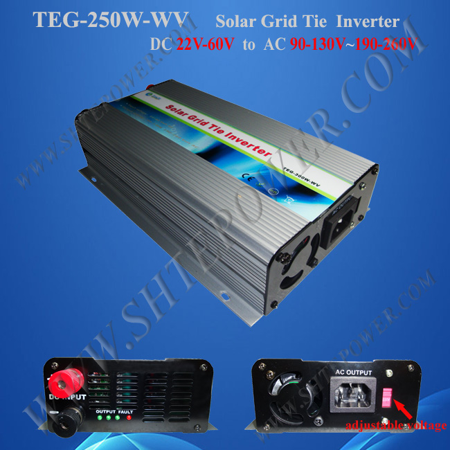 48v dc to ac 110v grid connect solar inverter 250w grid tie pv converter(China (Mainland))