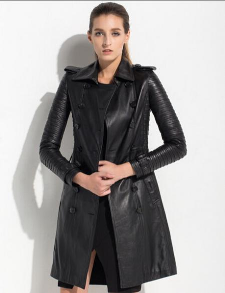 Long leather jackets for women