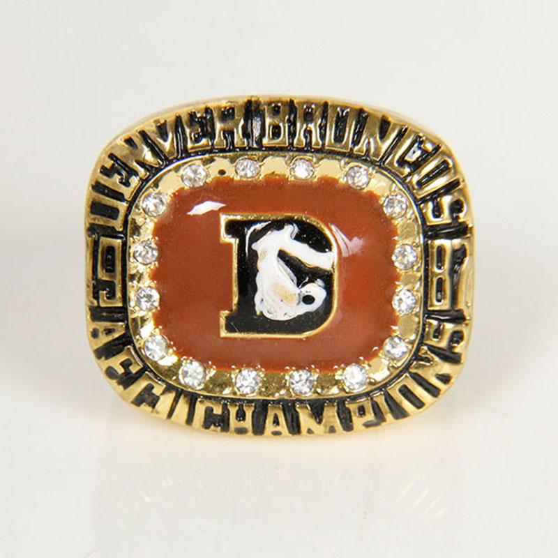 AFC 1987 Denver Broncos America Football Championship Ring Replica Size 11, Custom Championship Rings(China (Mainland))