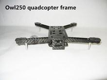 DIY mini drone FPV cross racing quadcopter pure carbon fiber Owl250 frame Alien QAV250 quad