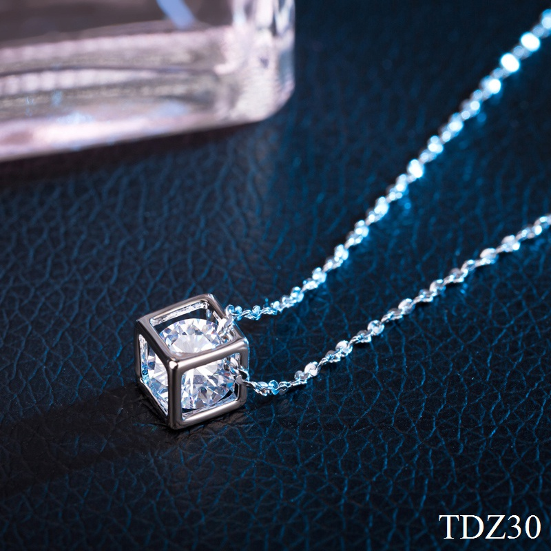 New Fashion Silver gold plated Magic Cube pendants Dazzling Crystal zircon Pendant Necklace For Women Charm Fine Jewelry(China (Mainland))