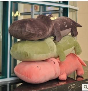 75cm 1pcs wholesale price hot sell Christmas gift color Hippo soft stuffed plush animal toys(China (Mainland))