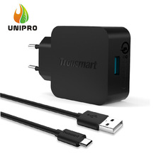 In Stock![Qualcomm Certified]5 Times Faster Tronsmart TS-WC1Q Quick Charge2.0 1 Port Wall Charger+ 6FT USB to Micro USB Cable(China (Mainland))