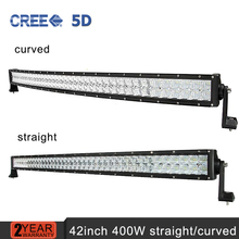42inch 400w CREE 5D Led Light Bar Curved/Straight Combo Beam Work Light For Offroad Truck Trailer 4x4 ATV SUV 12v 24v Auto Lamps(China (Mainland))