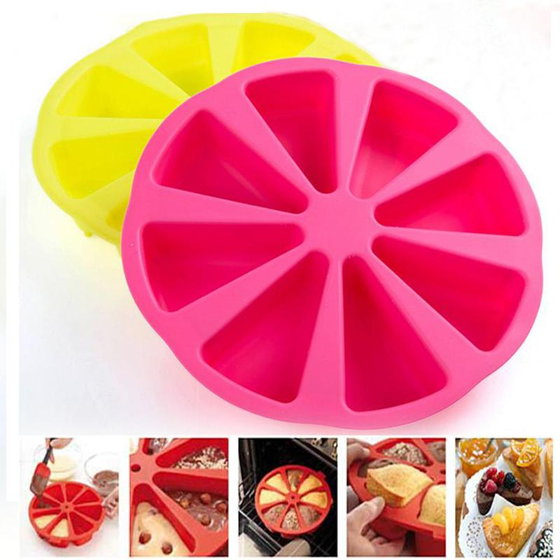 Food Grade Silicone Baking Cake Pan Molds Pudding Jelly Muffin Form Cupcake Triangle Shape Moulds DIY Bakeware Tools Tray Mak(China (Mainland))