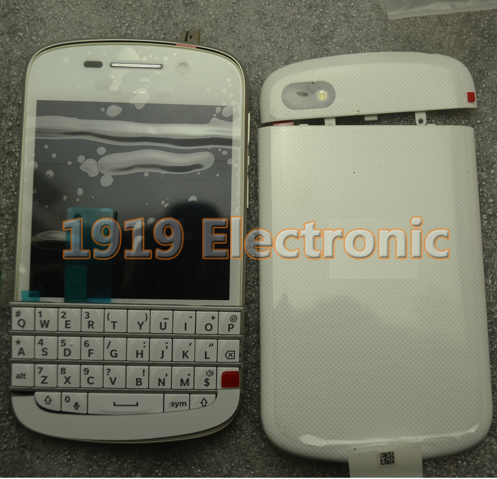 White Full NEW Complete Mobile Phone Housing Cover Case+LCD Screen & Digitizer For BB BlackBerry Q10(China (Mainland))