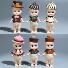 6Pcs/Set 8CM Sonny Angel Baby PVC Series Chocolete Action Figures Toy Set Saint-Valentin Gifts Children Brand Kids Doll Toys