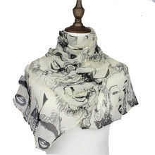 Shawl Wraps From India Fashion Silk Scarves Poncho Foulard Bufandas Mujer Cachecol Scarfs Designer Women'S Character Wholesale(China (Mainland))