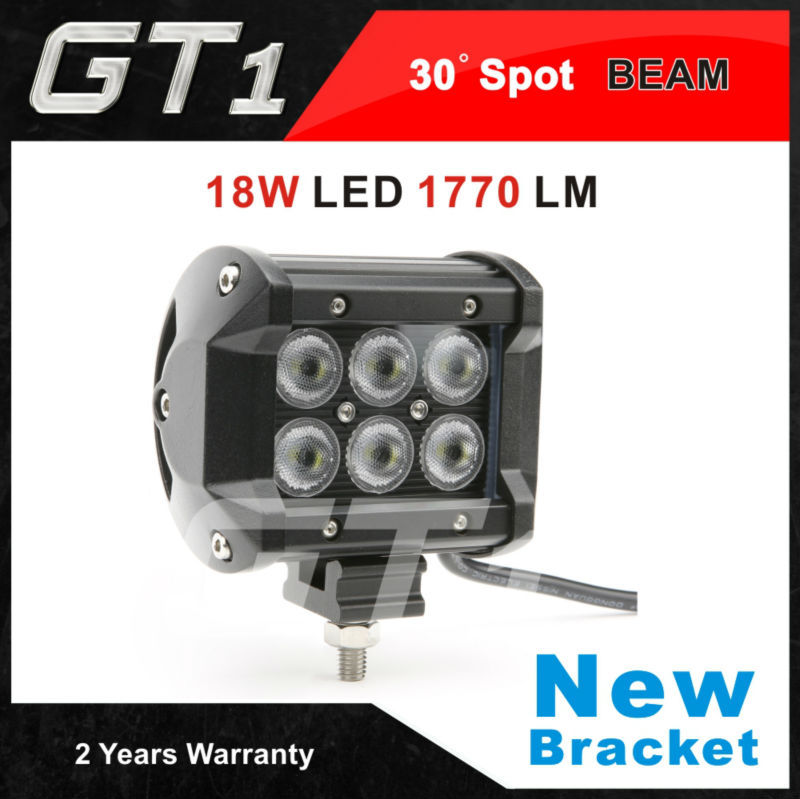 New Bracket 4 inch 18W Cree LED Work Light Bar Spot BEAM Lamp for Motorcycle Tractor Boat Off Road 4x4 Truck SUV F150 12V(China (Mainland))