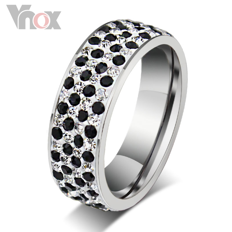 Crystal Wedding Rings Wholesale Stainless Steel Rings For Women And