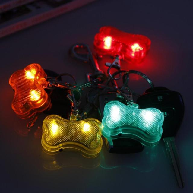 LED Nylon Pet Dog Cat Collar Dog Flashing Clip On Collar Led Light Charm Id Tag Flash Or Glow Modes