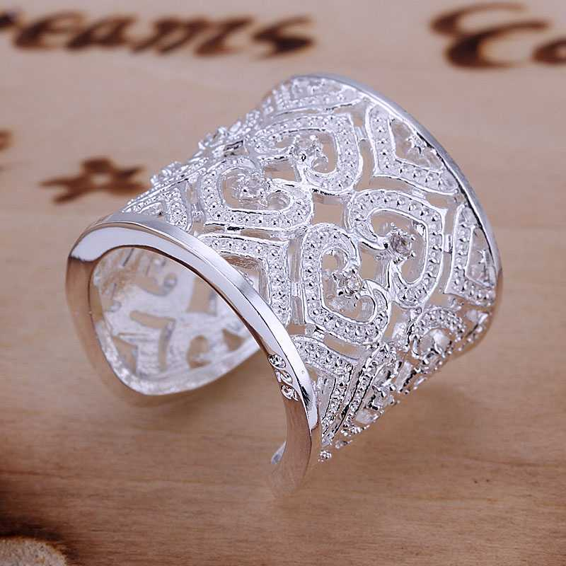 Lose Money Promotions! Wholesale 925 silver ring, 925 silver fashion jewelry, Insets Multi Heart Ring SMTR106(China (Mainland))