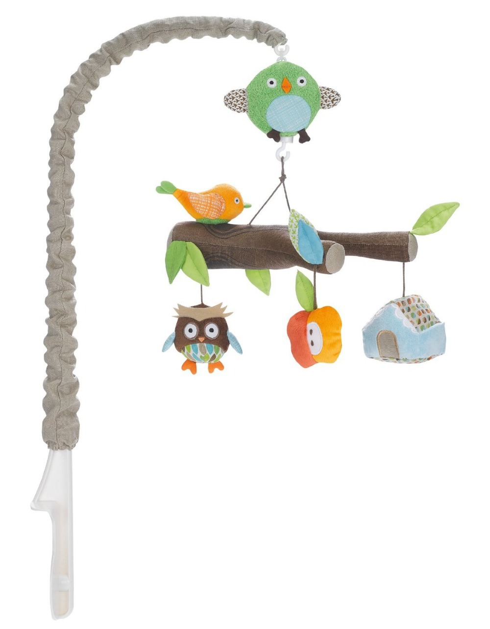 Crib music box for babies -  Forest Animal Mobile Bed Clockwork Music Box Holder Baby Bed Bell Baby Bed Plush Toy Owl