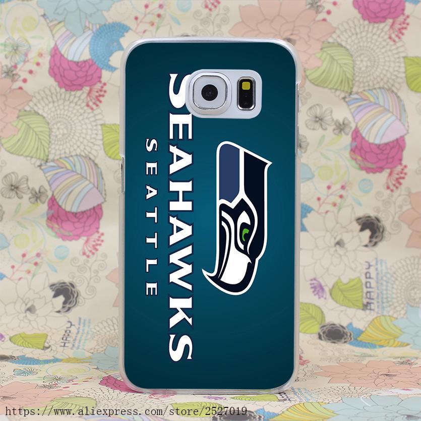 4014HF Seattle seahawks football Hard Case Transparent Cover for Galaxy S2 S3 S4 S5 & Mini S6 Edge Plus S7 Edge(China (Mainland))