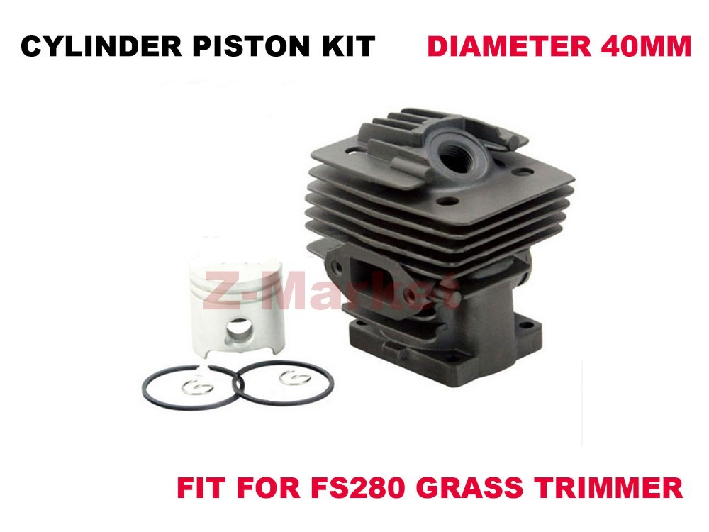 Ceramic Coated Cylinder Piston Kit Bore 40MM for STIHL FS280 Grass Trimmer Brush Cutter .(China (Mainland))