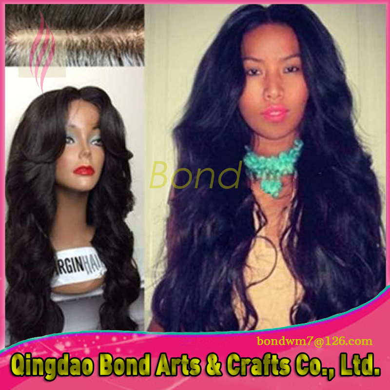 Фотография 7A Grade Hair Wig Brazilian Glueless Lace Wigs 130% Density Body Wave hair Lace Front Wigs Black Women Free Shipping