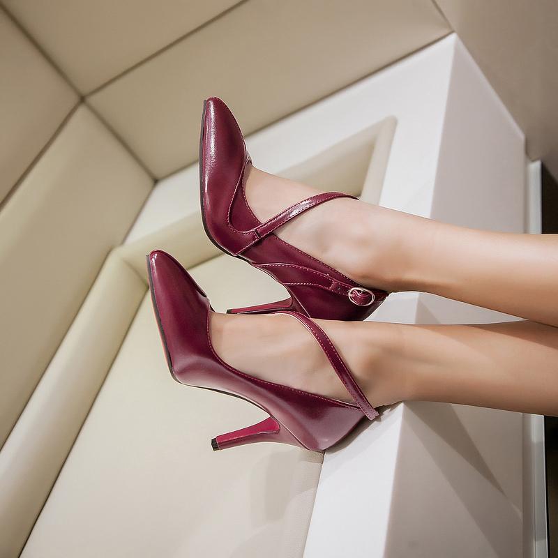 2015 new arrived black pink blue color high heel