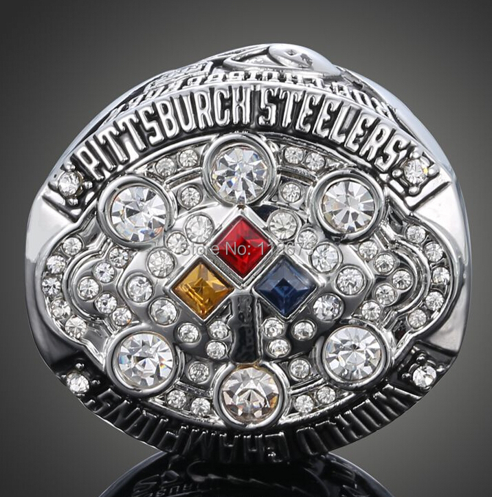 Free shipping 2014 fashion wholesale sport Ring 2008 Super Bowl Pittsburgh Steelers Championship Ring for men big ring Size 11(China (Mainland))