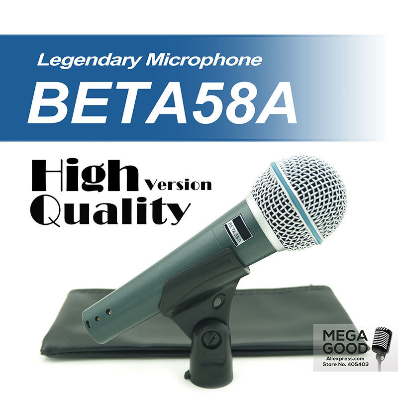 Free Shipping! High Quality Version Beta 58a Vocal Karaoke Handheld Dynamic Wired Microphone BETA58 Microfone Mike Beta 58 A Mic<br><br>Aliexpress