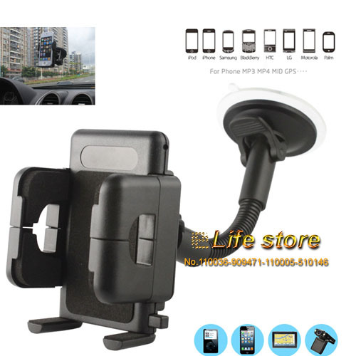 Rotary Holder Window Sunction Holder Mobile Phone Car Holder Stand +Vent Clip For HTC Desire Eye M910X(China (Mainland))