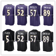 2016 hombres 5 Joe Flacco 57 cj Mosley 89 Steve Smith Sr 52 Ray Lewis purple black Stitche jersey(China (Mainland))