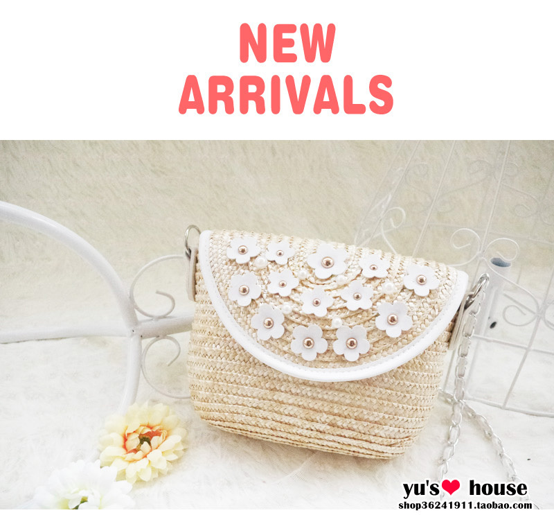 free shipping 2015 a new single-day shipping small daisy straw bags diagonal small fresh Sen Department of grass rattan cane bag(China (Mainland))