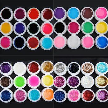 1set /lot Free Shipping FASHION Transparent Glittery Glitter  Nail UV Gel Extension DIY Builder Nail Art Set