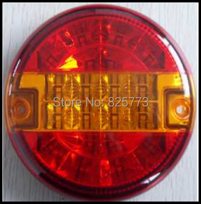 PAIR OF 12V24V VOLT LED REAR ROUND HAMBURGER TAIL LAMP LIGHT LORRY/TRUCK/TRAILER<br><br>Aliexpress